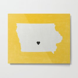 Iowa Love Metal Print