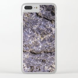 Lava Stone Texture Clear iPhone Case