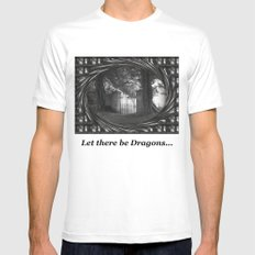 Let there be dragons. Mens Fitted Tee White MEDIUM