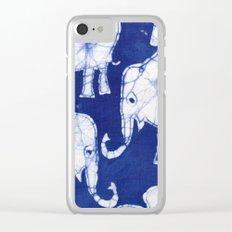 Batik Elephants Clear iPhone Case