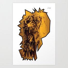 Riot lion logo noir colors urban fashion culture Jacob's 1968 Paris Art Print