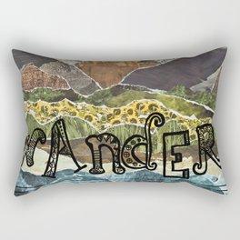 Compass Rose Garden Rectangular Pillow