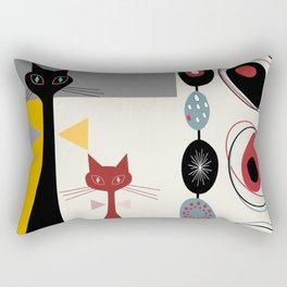 Mid-Century Modern Art Cats Rectangular Pillow