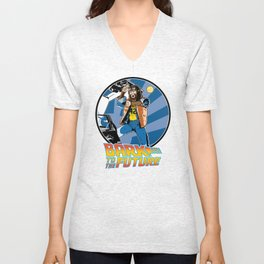 Bark to the Future Unisex V-Neck