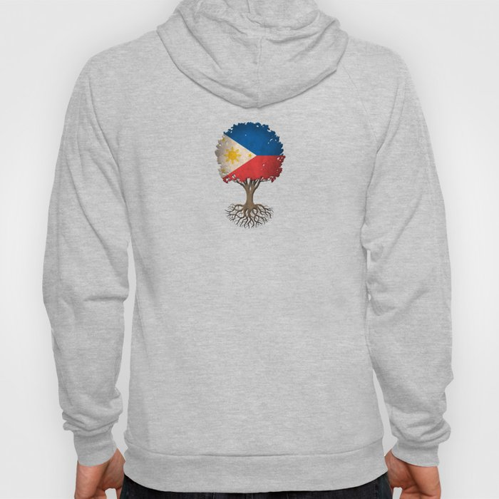 Vintage Tree of Life with Flag of Philippines Hoody