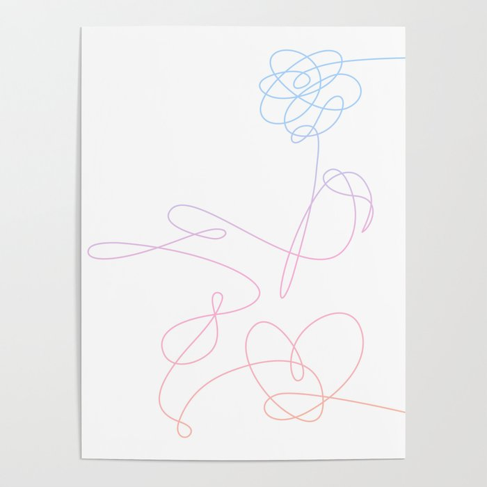 BTS Love Yourself Complete Flower Poster by imgoodimdone