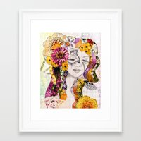 flora Framed Art Prints featuring Flora by Jenndalyn
