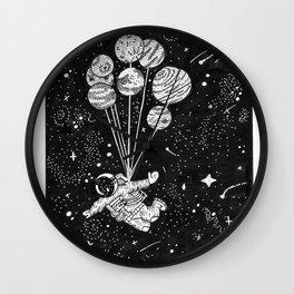 Astronaut Sky Diving Wall Clock