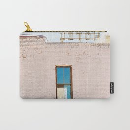 Route 66,Urban Decay, Fine Art Photography, Abandoned Building, Vintage Hotel,Americana Carry-All Pouch