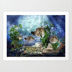Kugelfische Art Print