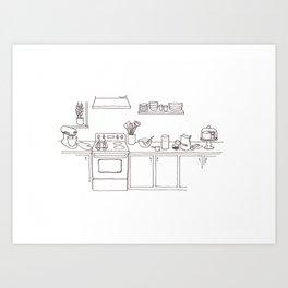 A Baker's Kitchen Art Print
