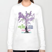 oscar wilde Long Sleeve T-shirts featuring Oscar Wilde #3 I will wait here by bravo la fourmi