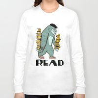 read Long Sleeve T-shirts featuring READ by Zachariah  OHora