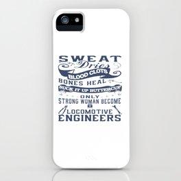 Locomotive Engineer Woman iPhone Case