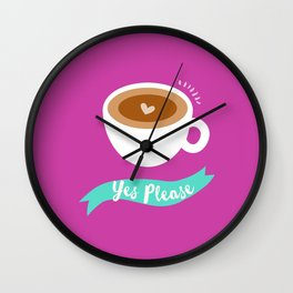 Coffee please Wall Clock