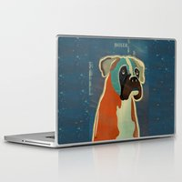 boxer Laptop & iPad Skins featuring the boxer by bri.buckley