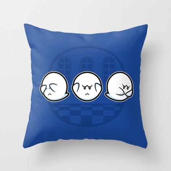 Boo No Evil Throw Pillow