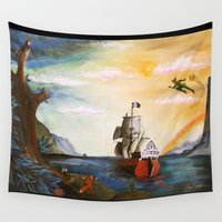 neverland Wall Tapestries featuring Neverland by Art by Terrauh