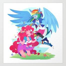 rainbowpie Art Print