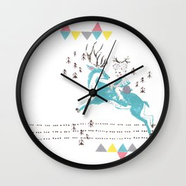 Deer Boy Wall Clock