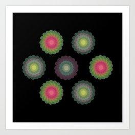 transparent floral patterns 2 Art Print