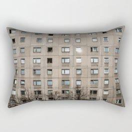 Plattenbau - gdr architecture building facade Rectangular Pillow
