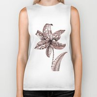 henna Biker Tanks featuring Henna Lily by Elisa Camera