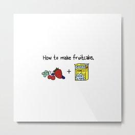 How to Make Fruitcake Metal Print