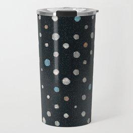 LOTS OF DOTS / black / linen beige / light blue / rose beige Travel Mug