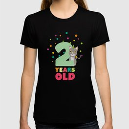 Two Years second Birthday Party Cat T-Shirt D7fw4 T-shirt