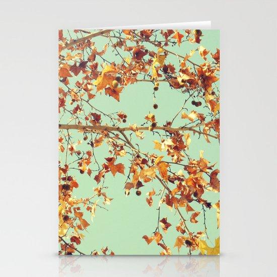 En los árboles Stationery Cards