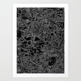 White/Black #1 Art Print