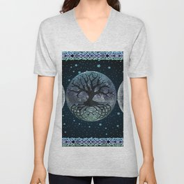 Esoteric Triple Moon Unisex V-Neck