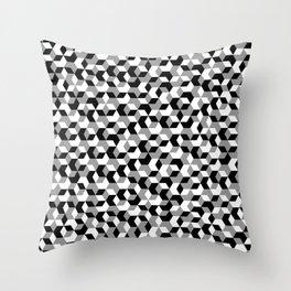 Hexagon(mono) #1 Throw Pillow