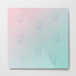 Teeth Pink Cupid gradient color Metal Print