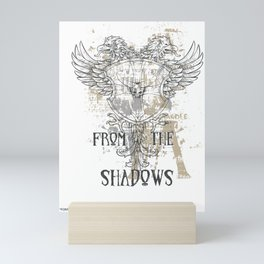 From The Shadows Vintage Crest Mini Art Print