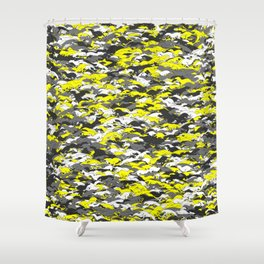 Whippet camouflage Shower Curtain