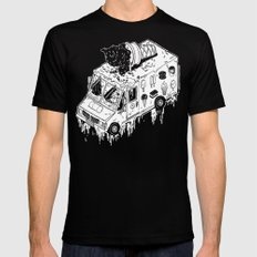 Melty Ice Cream Truck - sherbet Mens Fitted Tee SMALL Black