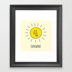 Sunswine Framed Art Print