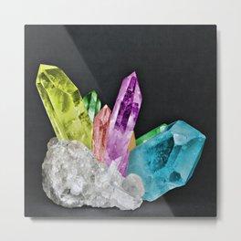 Chakra Rock Crystal - Geode Series Metal Print