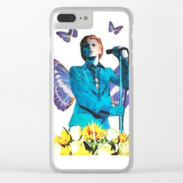 Butterfly Bowie Clear iPhone Case
