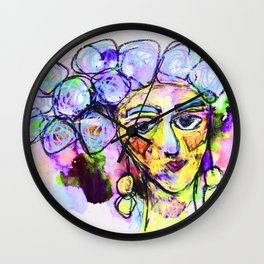 She kept it all to herself Wall Clock