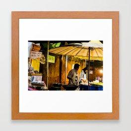Street Food Framed Art Print