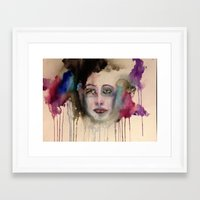 depression Framed Art Prints featuring Depression by Hannah Brownfield Camacho