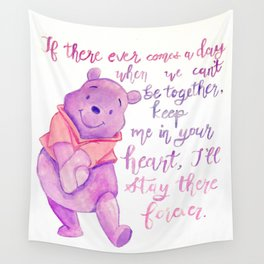 Purple Pooh Bear Wall Tapestry