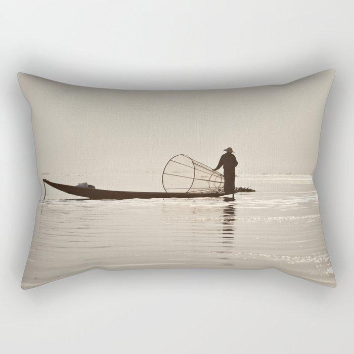 Inle Lake Myanmar Rectangular Pillow