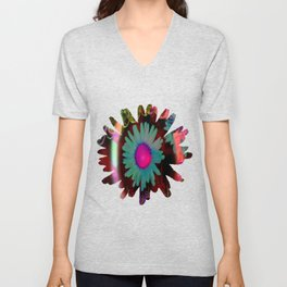 Tripping Daisies Unisex V-Neck