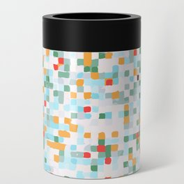 handmade coloured squares Can Cooler