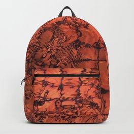 Turquoise Leaf on the Water Abstract  Backpack