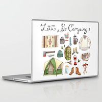 backpack Laptop & iPad Skins featuring Let's Go Camping by Brooke Weeber